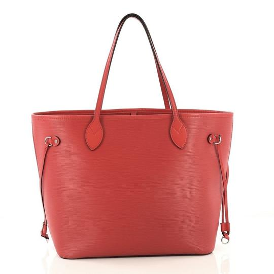 Louis Vuitton Leather Tote in Red Image 3