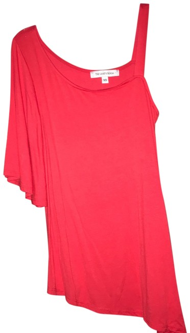 Item - Red One Shoulder Blouse Size 0 (XS)