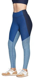 Outdoor Voices Three Toned Leggings in Navy/Deep Sea/Mist