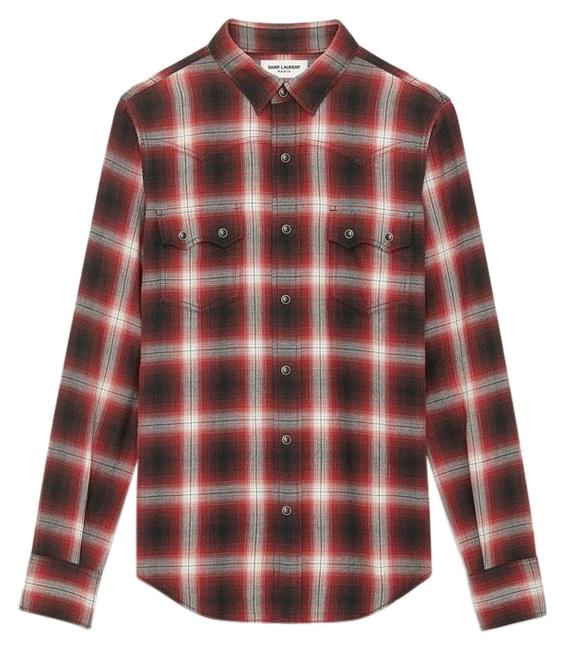 Item - Red XS Nashville Western Flannel Tee Shirt Size 2 (XS)
