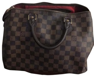 Louis Vuitton Satchel in checker board brown