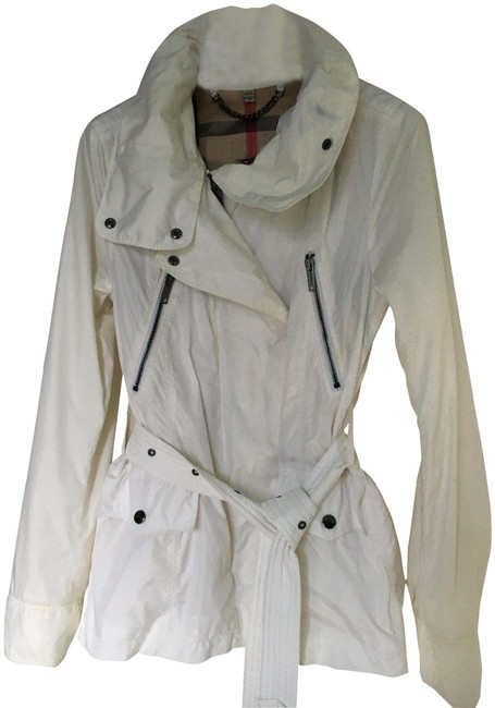 Burberry Hooded Rain Trench Ivory Jacket Image 0