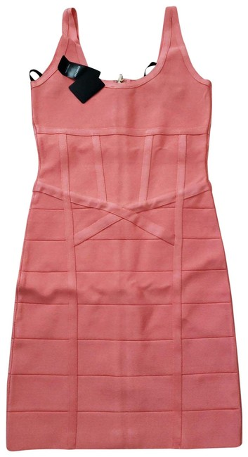 Item - Peach Claire Zipper Detail Short Night Out Dress Size 6 (S)