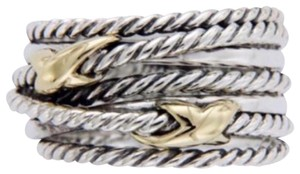 David Yurman David Yurman * Double Gold X Crossover Ring