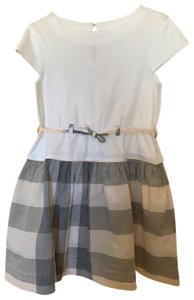 Burberry short dress Burberry girls dress size 5 white/beige on Tradesy