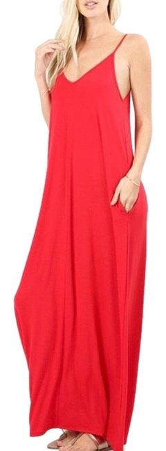 Item - Ruby Red Long Casual Maxi Dress Size 18 (XL, Plus 0x)