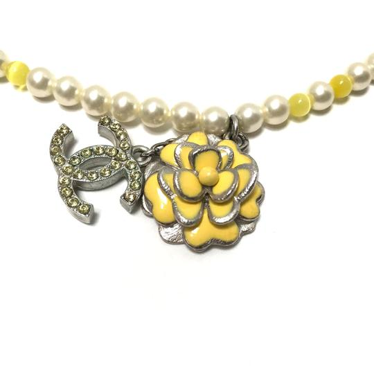 Chanel CHANEL Pearl Beaded Camellia CC Choker Necklace Image 1