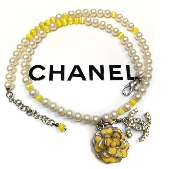 Chanel CHANEL Pearl Beaded Camellia CC Choker Necklace Image 8