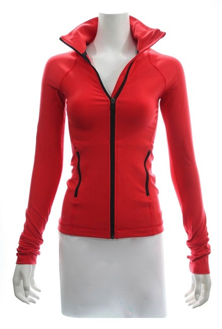 Item - Red Dry Fit Workout Zipper Jacket Size 0 (XS)