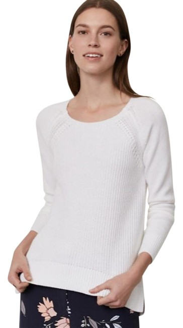 Item - Ribbed Pointelle New White Sweater