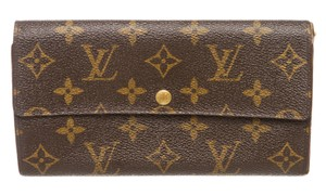 Louis Vuitton Louis Vuitton Monogram Canvas Leather Long Snap Bill Wallet