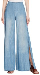 Free People Hippie Boho Style Fashion Flare Leg Jeans-Medium Wash