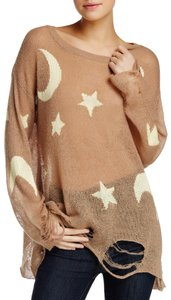 Wildfox Boho Hippie Stars Moon Rockandroll Sweater