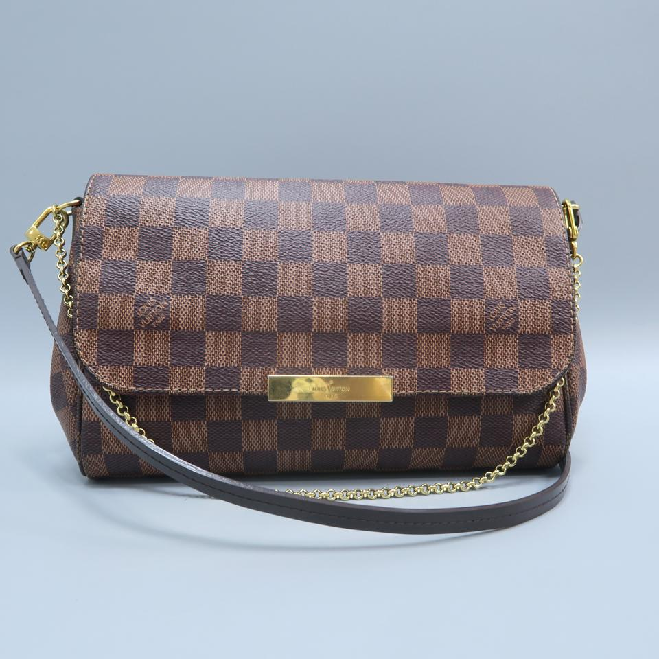 f0a61d4516ca1 Louis Vuitton Lv Favourite Damier Ebene Canvas Mm Cross Body Bag Image 0 ...