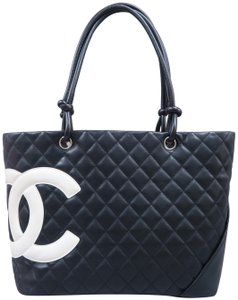 Chanel Cambon Cc Quilted Calfskin Shoulder Bag