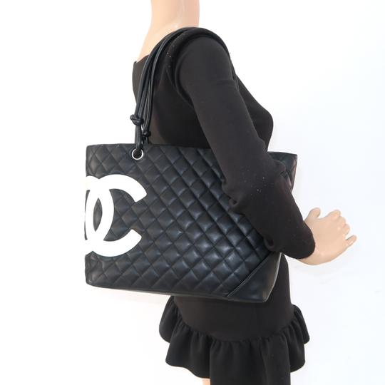 Chanel Cambon Cc Quilted Calfskin Shoulder Bag Image 11