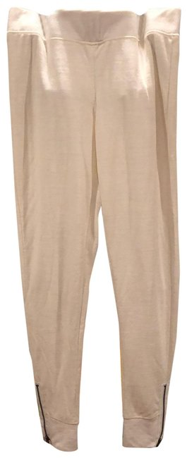 Item - Cream Knit Joggers Activewear Bottoms Size 8 (M)