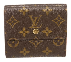 Louis Vuitton Louis Vuitton Canvas Leather Elise Wallet