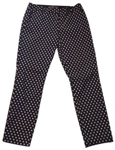 The Limited Capris Navy blue with the baby blue dots