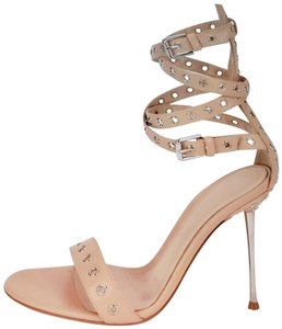 Gianvito Rossi Tan and silver Sandals
