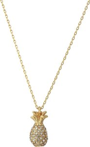 kate spade By The Pool Pave Pineapple Pendant Necklace WBRUF734 Gift Bag