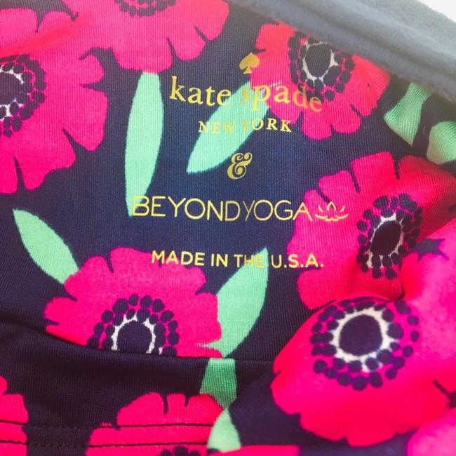 Kate Spade Beyond Yoga Lunar Cut out tank in Majorelle Floral Image 4