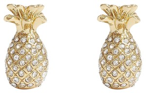 kate spade By The Pool Pave Pineapple Stud Earrings with Gift Bag WBRUF733