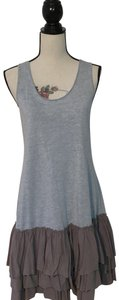 A'reve short dress Grey Ruffle T-shirt Racer-back on Tradesy