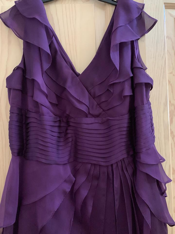 Adrianna Papell Purple Eggplant Aubergine 16w Gown Long Formal Dress Size 16 Xl Plus 0x 72 Off Retail