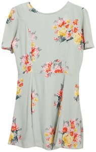 Privacy Please short dress Sage Floral Mini Short on Tradesy