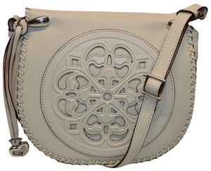 Brighton Gisella Tooled Saddle Cross Body Bag