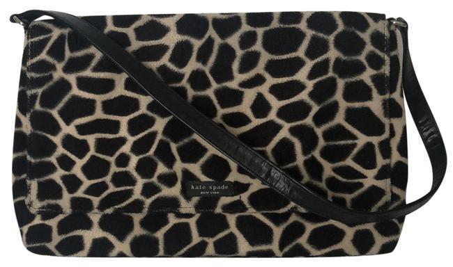 Item - Shoulder Bag Vintage Animal Print Black and Cream Velour Clutch