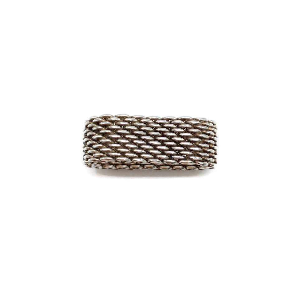 02364f344 Tiffany & Co. Sterling Silver Somerset Mesh Ring - Tradesy
