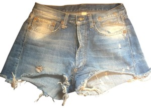 R13 Denim Shorts-Distressed