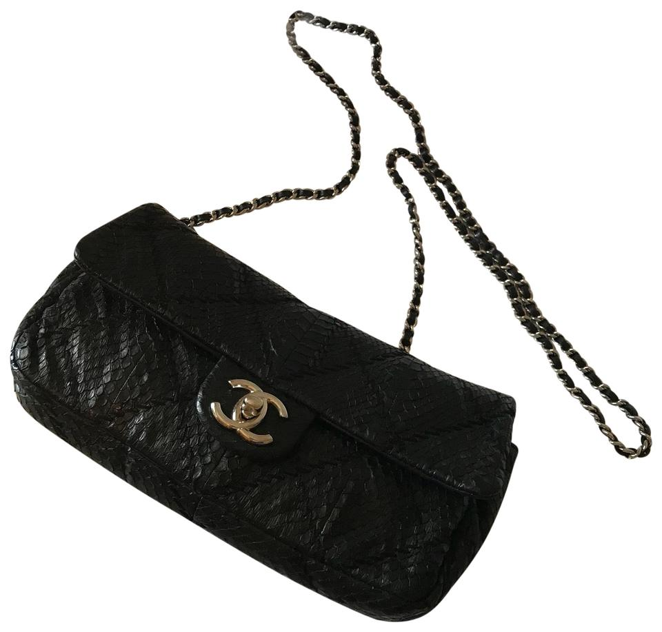 0f3a6a3cc238 Chanel Snakeskin Exotic Flap Python Evening Cross Body Bag Image 0 ...