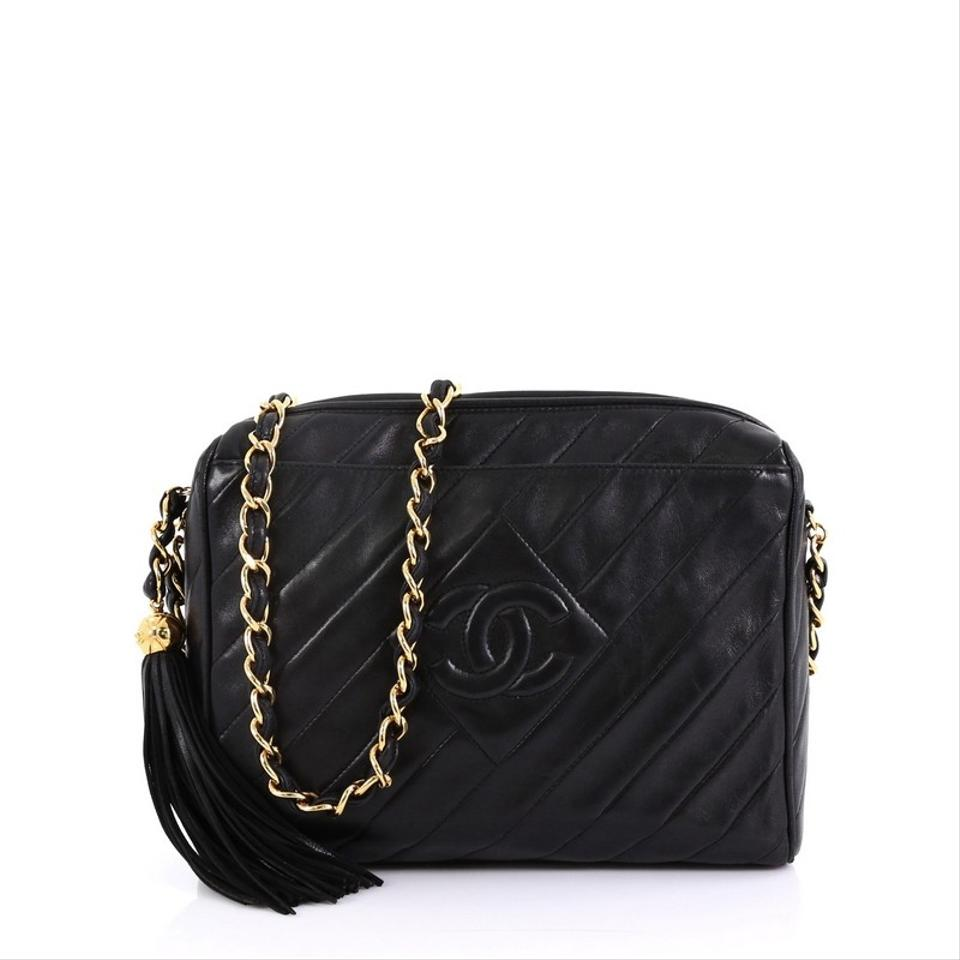 437e86cdaaad Chanel Camera Vintage Diamond Cc Quilted Small Black Leather ...