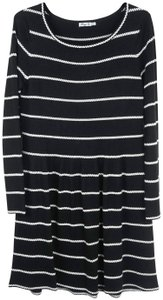 Eliza J short dress Striped Knit Fitted Flare on Tradesy
