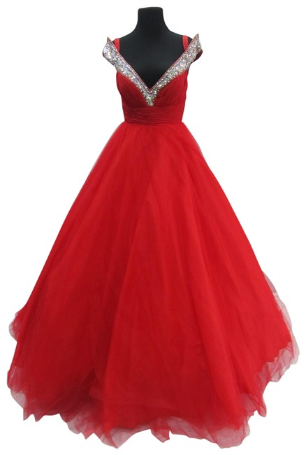 Item - Red 2653h/ Prom Long Formal Dress Size 4 (S)