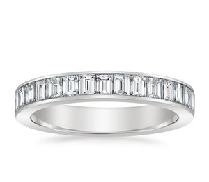 Natural Diamonds of NYC White 1.01 Ct Baguette Cut Ring In 14 Kt Gold Women's Wedding Band