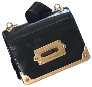 Prada Patent Leather Leather Hardware Baguette