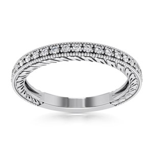 Natural Diamonds of NYC White 0.31 Ct Round Cut Ring In 14 Kt Gold Women's Wedding Band
