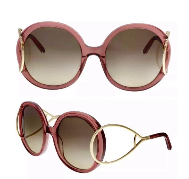 Item - Antique Rose Gold Round Sunglasses