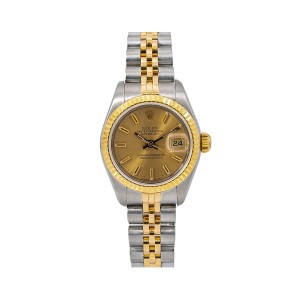 Rolex Rolex Datejust 69173 26MM Champagne Dial With Two Tone Jubilee