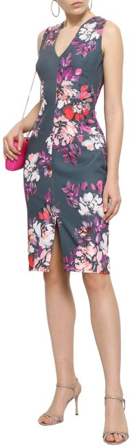 Item - Multicolor Floral-print Cady Mid-length Cocktail Dress Size 6 (S)