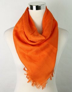 Gucci Orange Children's Guccissima Wool/Silk Square Shawl 418221 7500 Groomsman Gift