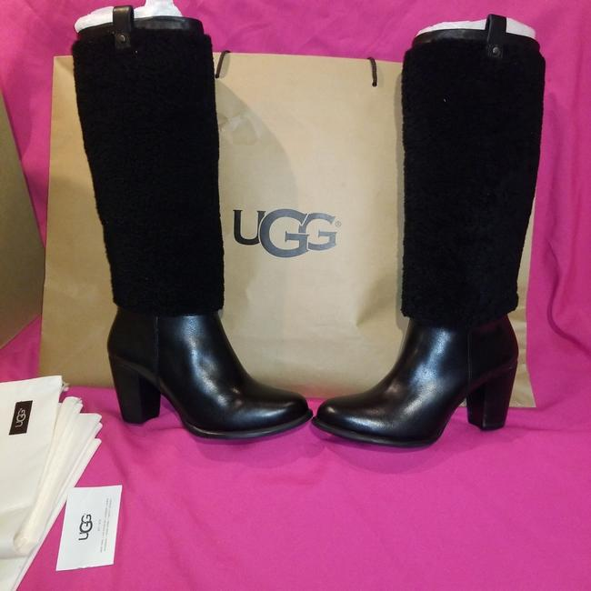 Item - Black W Model Ava Exposed Fur Boots/Booties Size US 8 Narrow (Aa, N)