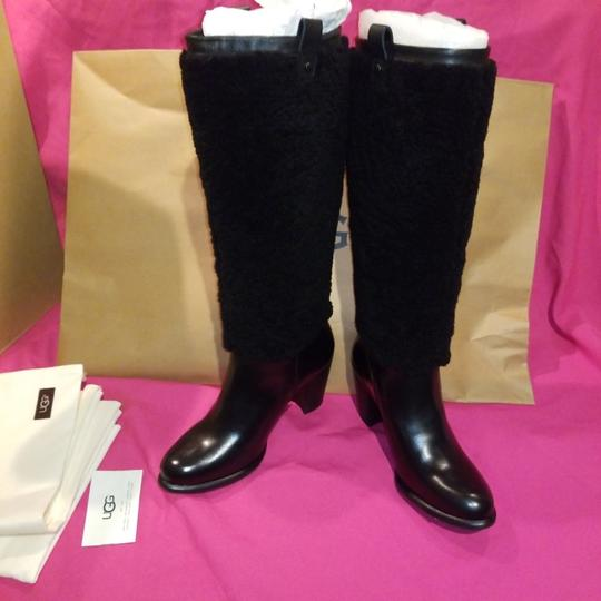 045dc7361bd UGG Australia Black W Model Ava Exposed Fur Boots/Booties Size US 8 Narrow  (Aa, N) 41% off retail