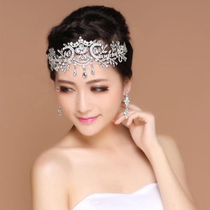Silver New Sparkly Headpiece Crown Crystal Pageant Veil Tiara