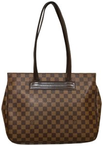 Louis Vuitton Damier Leather Tote in Brown and tan