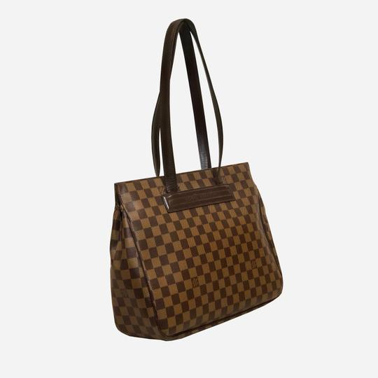 Louis Vuitton Damier Leather Tote in Brown and tan Image 1